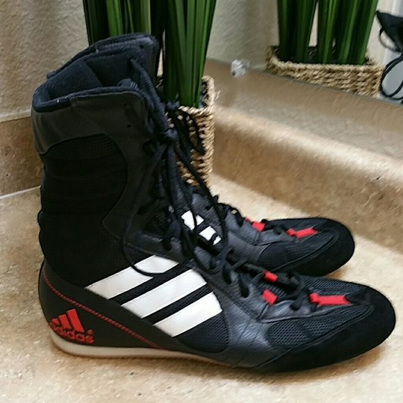 adidas Other - Adidas Tygun Black Red Boxing Shoes Size 11 62d8c0dd8